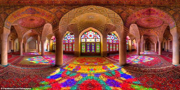 Mohammed Ganji - the pink mosque in Shiraz.